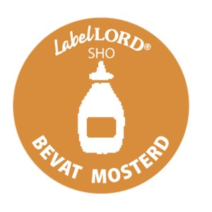 Label Allergeen -mosterd-